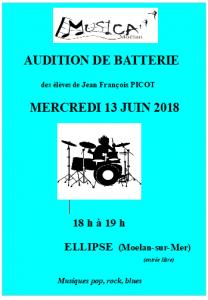 audition batterie 13 juin 2018 Ellipse